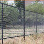 Ограждение площадки забором из сетки рабицы